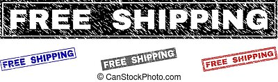 Grunge FREE SHIPPING Textured Rectangle Watermarks