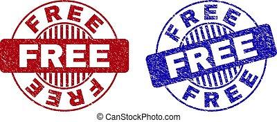 Grunge FREE Textured Round Watermarks