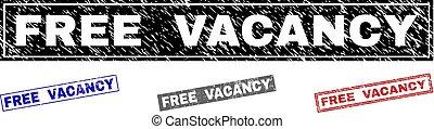 Grunge FREE VACANCY Textured Rectangle Watermarks