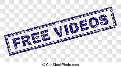 Grunge FREE VIDEOS Rectangle Stamp