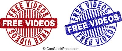 Grunge FREE VIDEOS Textured Round Stamp Seals