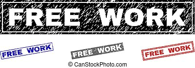 Grunge FREE WORK Textured Rectangle Stamp Seals
