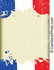Grunge french flag