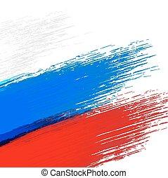 grunge, fundo, em, cores, de, bandeira russa