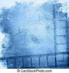 grunge, fundos, efeito, faixa película