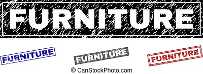 Grunge FURNITURE Scratched Rectangle Watermarks