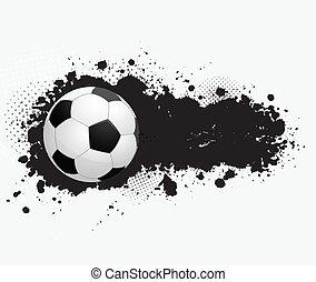 grunge, futball, transzparens, labda