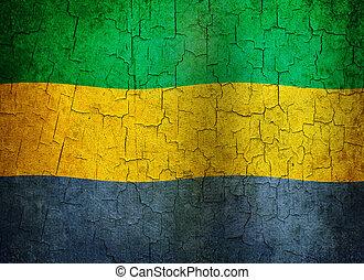 Grunge Gabon flag