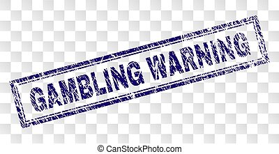 Grunge GAMBLING WARNING Rectangle Stamp