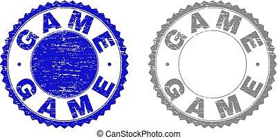 Grunge GAME Textured Stamps