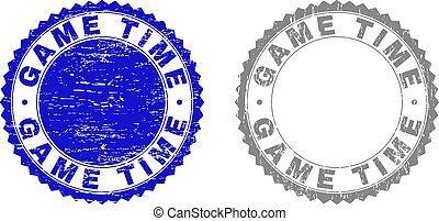 Grunge GAME TIME Textured Watermarks
