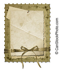 grunge, gammal, papper, design, in, scrapbooking, stil