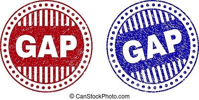 Grunge GAP Scratched Round Stamps