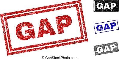 Grunge GAP Textured Rectangle Watermarks
