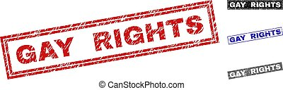 Grunge GAY RIGHTS Textured Rectangle Watermarks