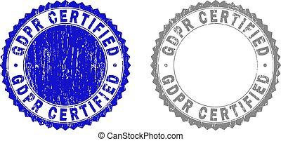 Grunge GDPR CERTIFIED Textured Watermarks
