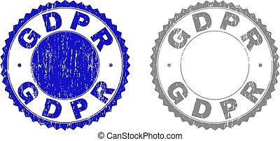 Grunge GDPR Textured Stamp Seals