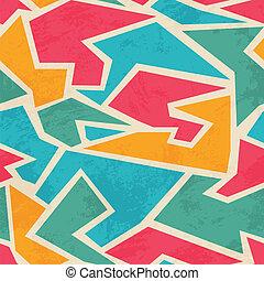 grunge, gefärbt, muster, effekt, seamless, mosaik