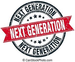 grunge, generación, luego, estampilla, redondo, cinta