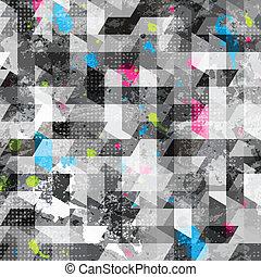 grunge, geometrico, seamless, struttura
