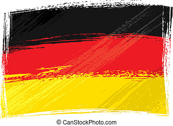 Grunge Germany flag - Germany national flag created in...