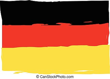 Grunge GERMANY flag or banner