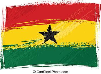 Grunge Ghana flag - Ghana national flag created in grunge...