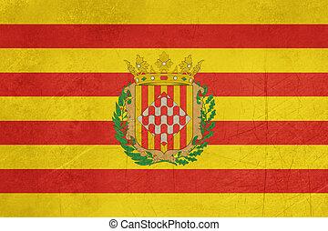 Grunge Girona city flag