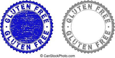 Grunge GLUTEN FREE Scratched Stamp Seals