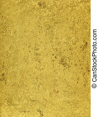 Grunge golden metallic texture.