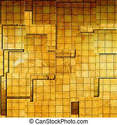 grunge golden mosaic