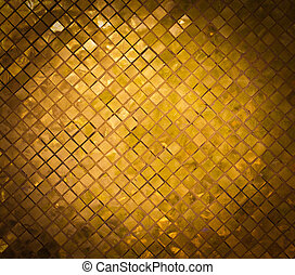 grunge golden mosaic, gold background