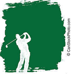 grunge, golf, plano de fondo