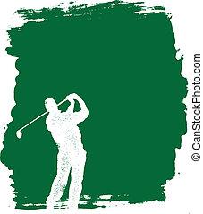 grunge, golfen, hintergrund