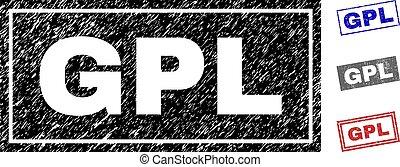 Grunge GPL Textured Rectangle Watermarks