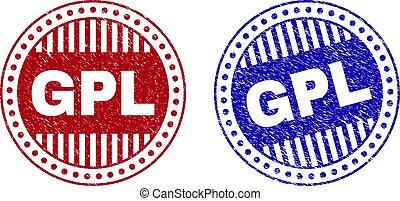 Grunge GPL Textured Round Stamp Seals