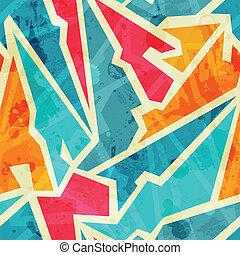grunge, graffiti, seamless, modèle