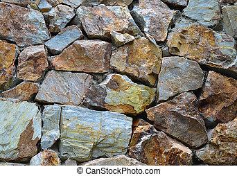Grunge granite stone wall