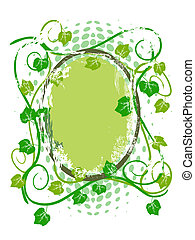Grunge grape vine frame