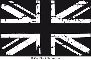 Grunge Great Britain Flag.