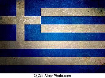Grunge Greece Flag - Greece Flag on old and vintage grunge...