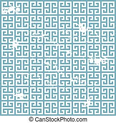 grunge greek pattern - illustration of a grungy ancient...