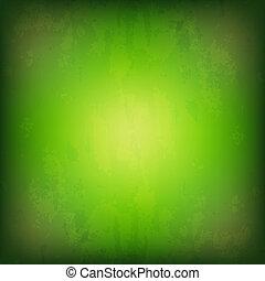 Grunge Green Background, With Gradient Mesh, Vector...