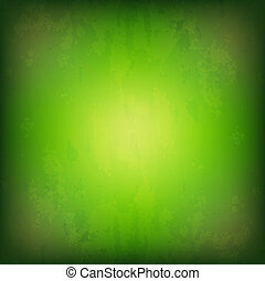Grunge Green Background, With Gradient Mesh, Vector...