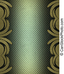 Grunge green background with patterns on the edges