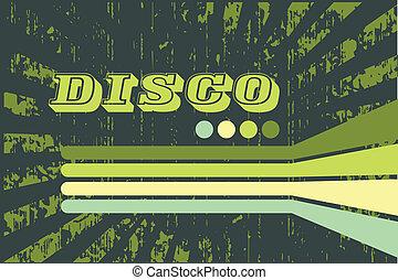 grunge green disco