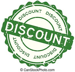 Grunge green discount word round rubber seal stamp on white background