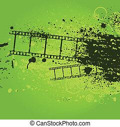 Grunge green film