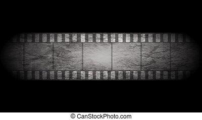 Grunge grey filmstrip video animation - Grunge grey moving...