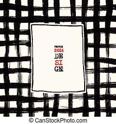 Grunge grid background. Abstract grunge decoration. Art ink...